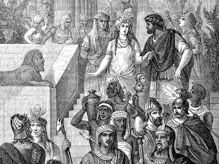 Cleopatra, the first femme fatale
