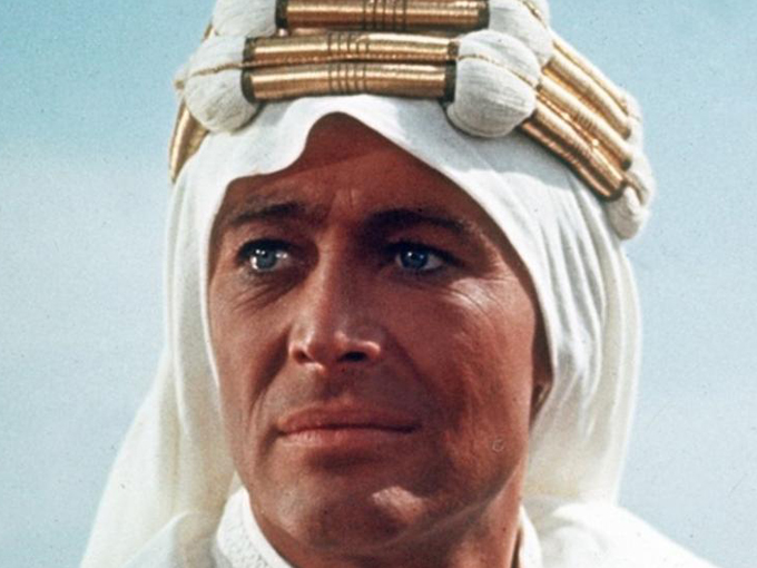 Peter O'Toole en el papel de Lawrence de Arabia